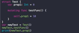 mutating function ในภาษา swift คืออะไร